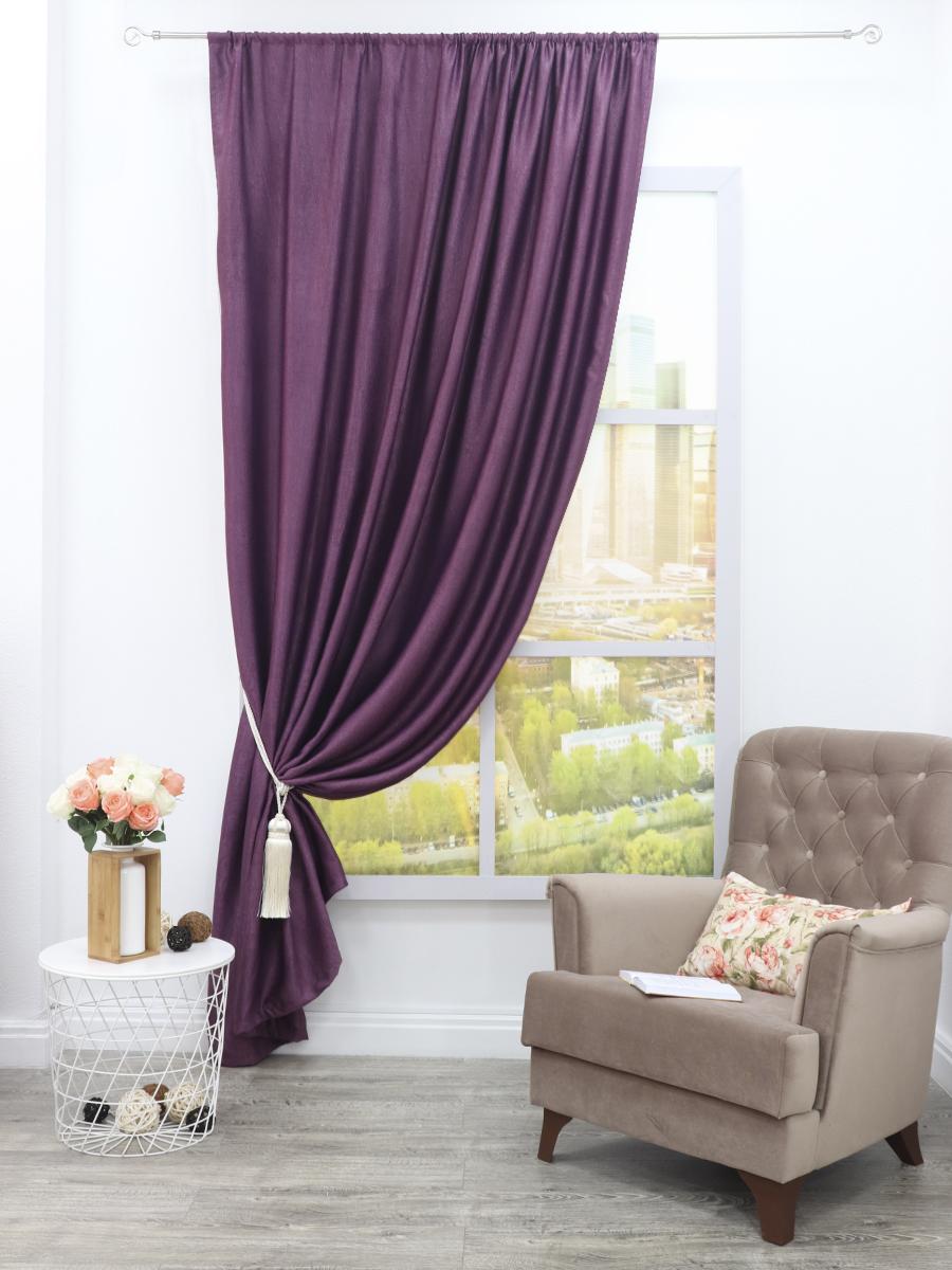 Классические шторы Pauline Цвет: Фиолетовый