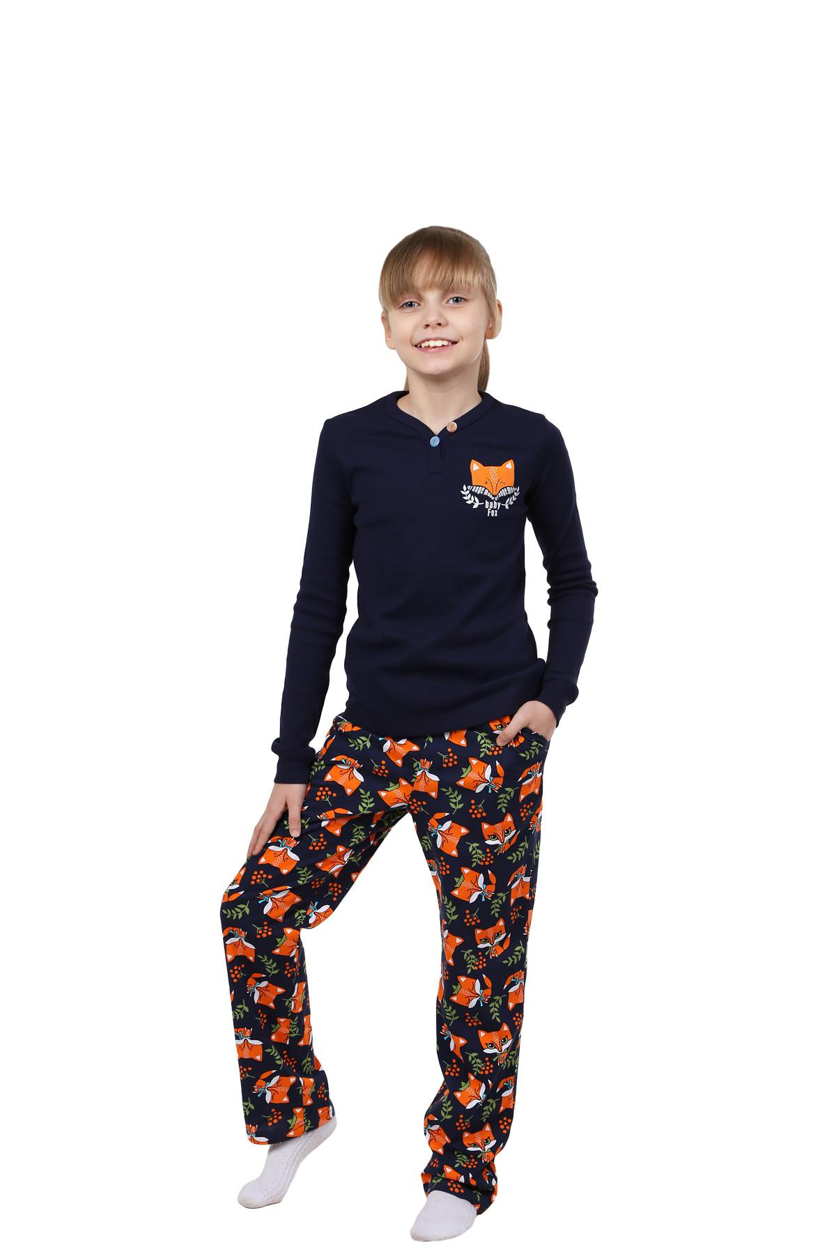 Детская пижама Лисенок Цвет: Темно-Синий (12 лет) фото