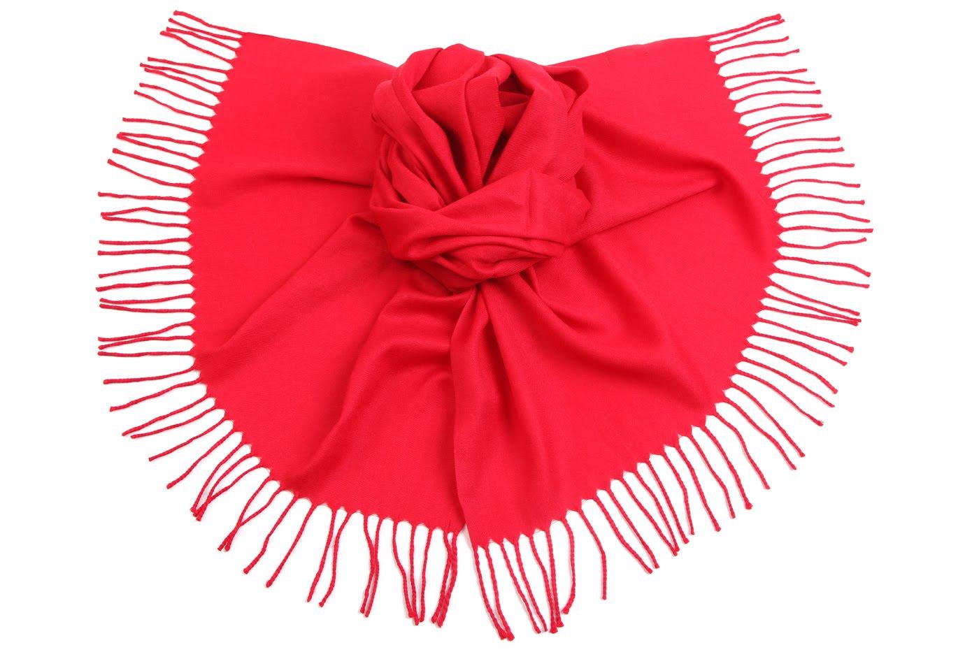 Накидка-палантин Byrne Цвет: Красный (60х170 см) фото