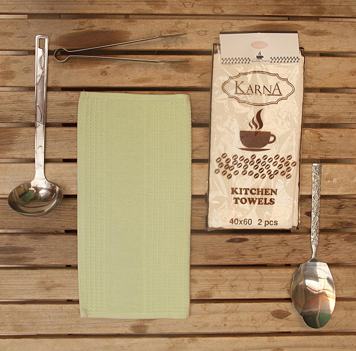 Полотенца Medley Кухонное полотенце Medley Цвет: Зеленый (40х60 см - 2 шт) bon appetit кухонное полотенце cake цвет зеленый 40х60 см 2 шт