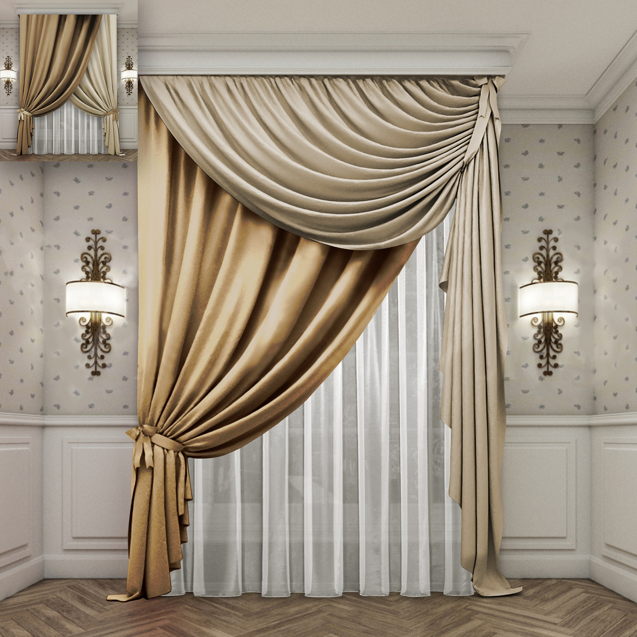 Дизайн шторы в гостиной картинки