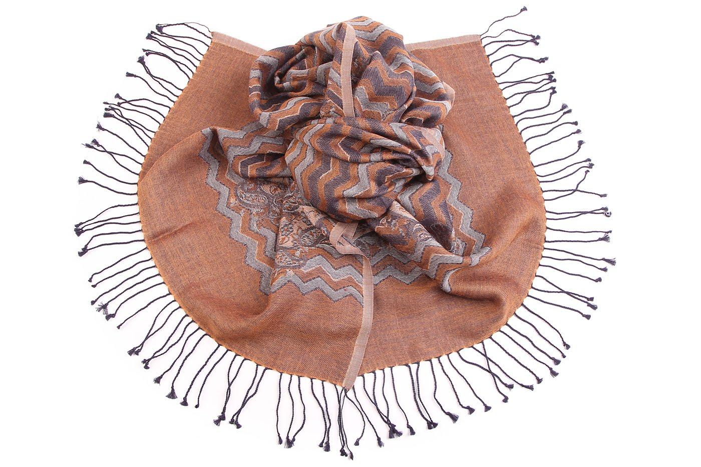 Накидка-палантин Nerissa Цвет: Коричневый (60х190 см) фото