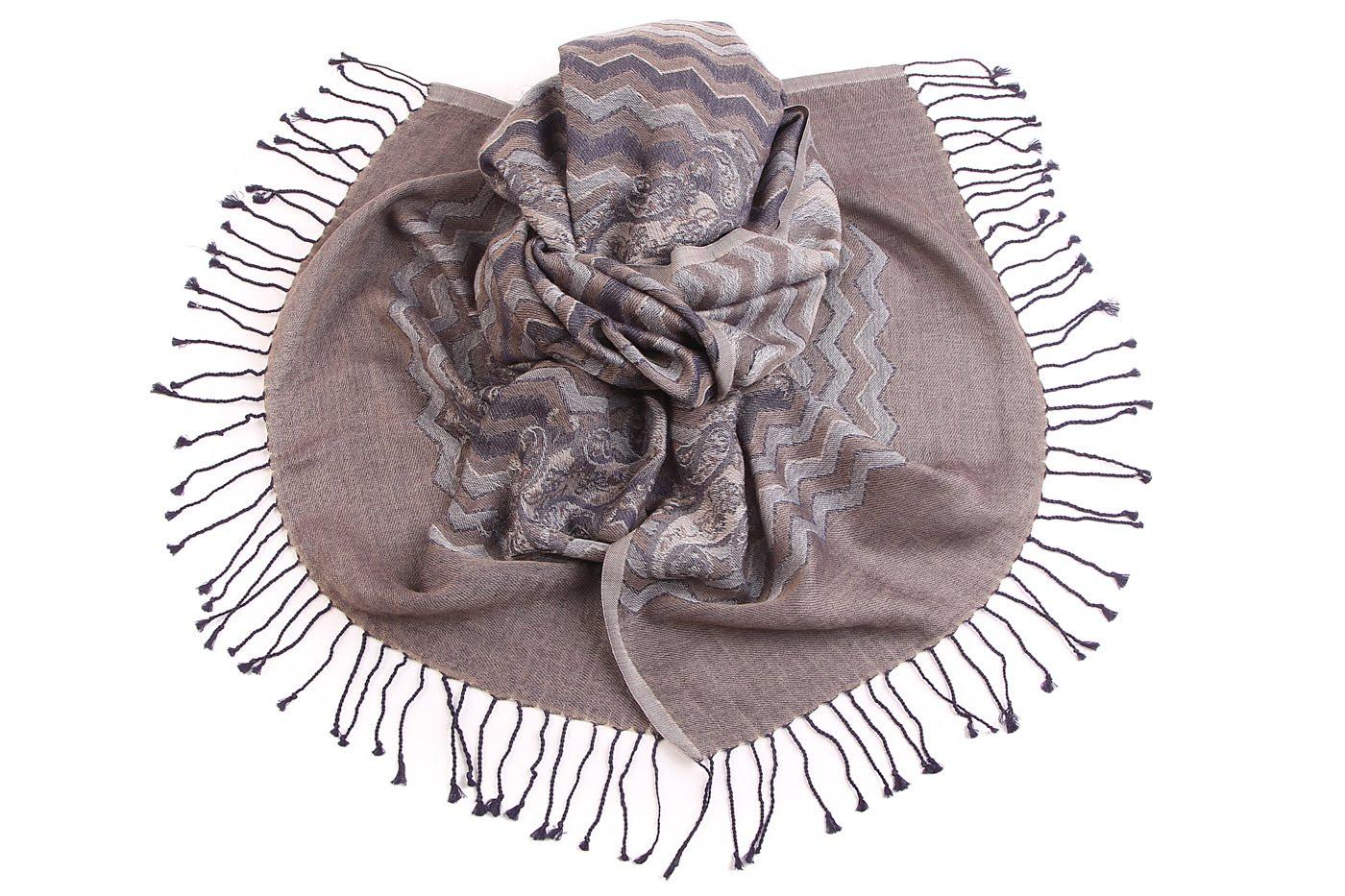 Накидка-палантин Keisha Цвет: Серый (60х190 см) фото
