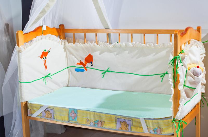 Наматрасники и чехлы для матрасов Primavelle Детский наматрасник Bevin Цвет: Зеленый (60х120 см)