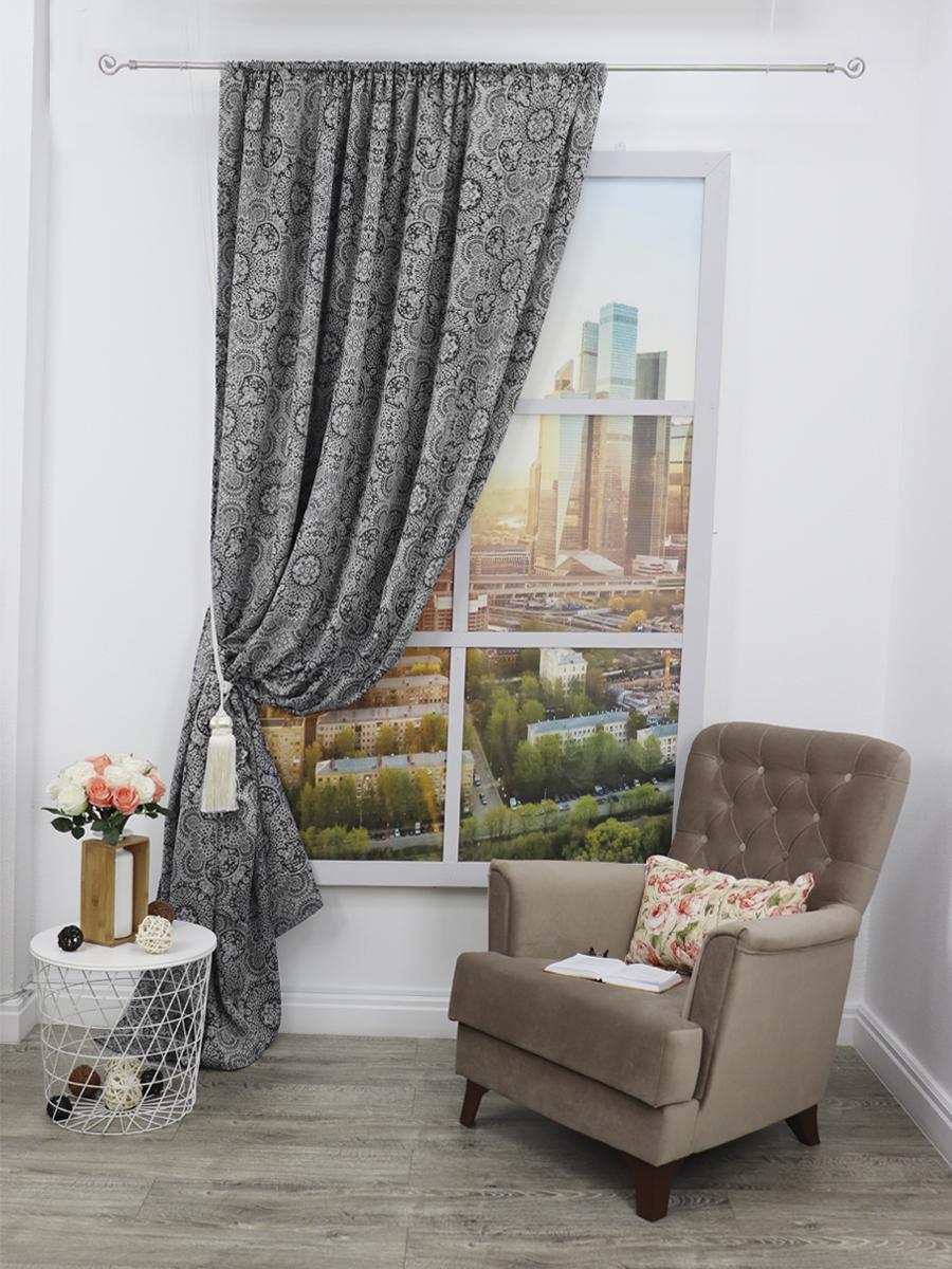 Классические шторы Desmond Цвет: Черный