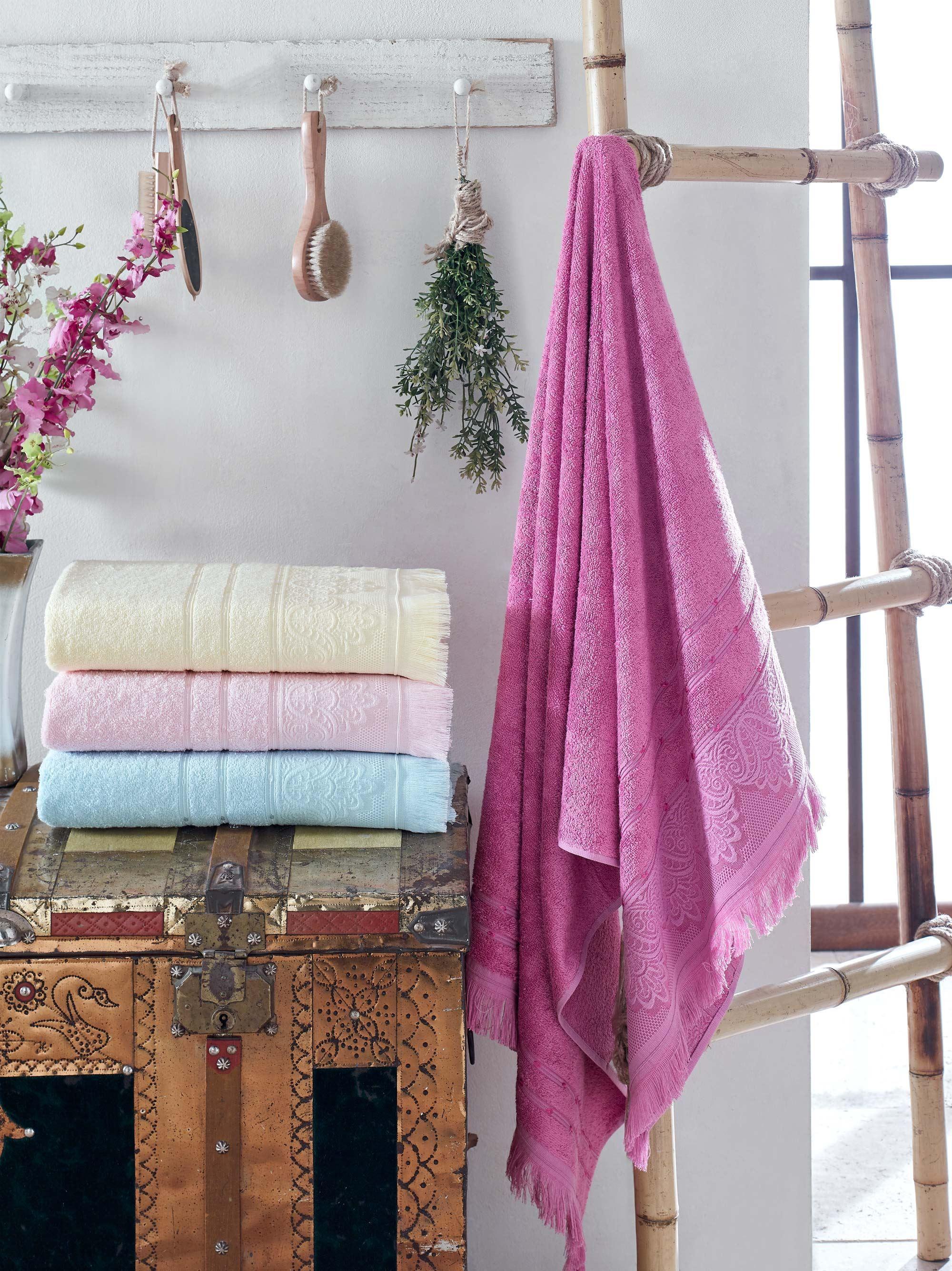 Полотенце Lavender Цвет: Бледно-Жёлтый (50х90 см - 2 шт,70х140 см - 2 шт) фото