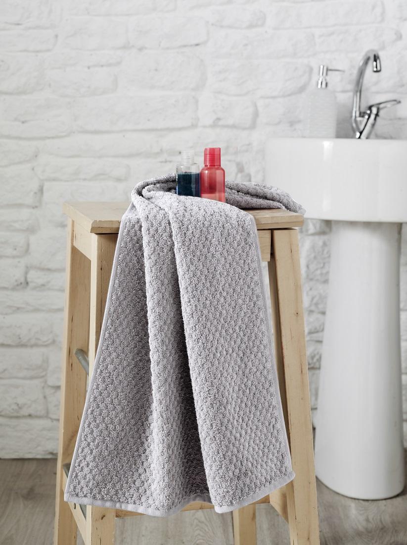 Купить Полотенца Karna, Полотенце Dama Цвет: Серый (50х90 см), Турция, Жаккард