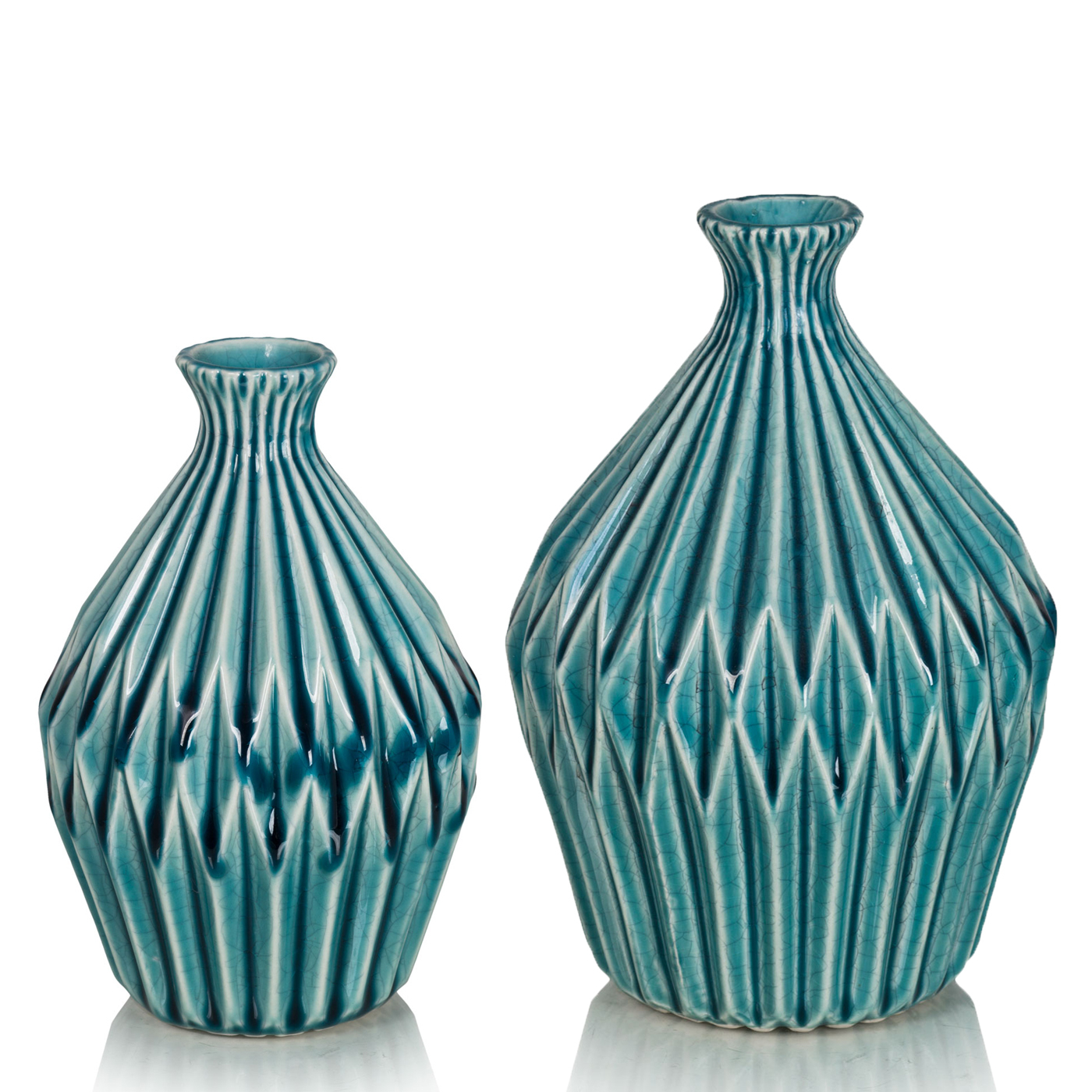 Купить Вазы Home Philosophy, Ваза Prima Цвет: Бирюзовый (12х18 см, большая), Китай, Керамика