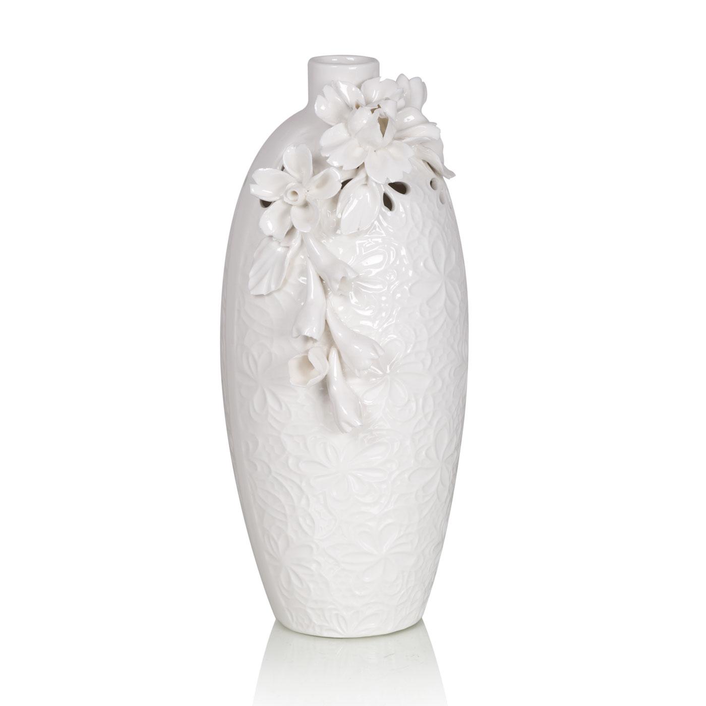 Купить Вазы Home Philosophy, Ваза Daniella Цвет: Белый (12х25 см), Китай, Керамика