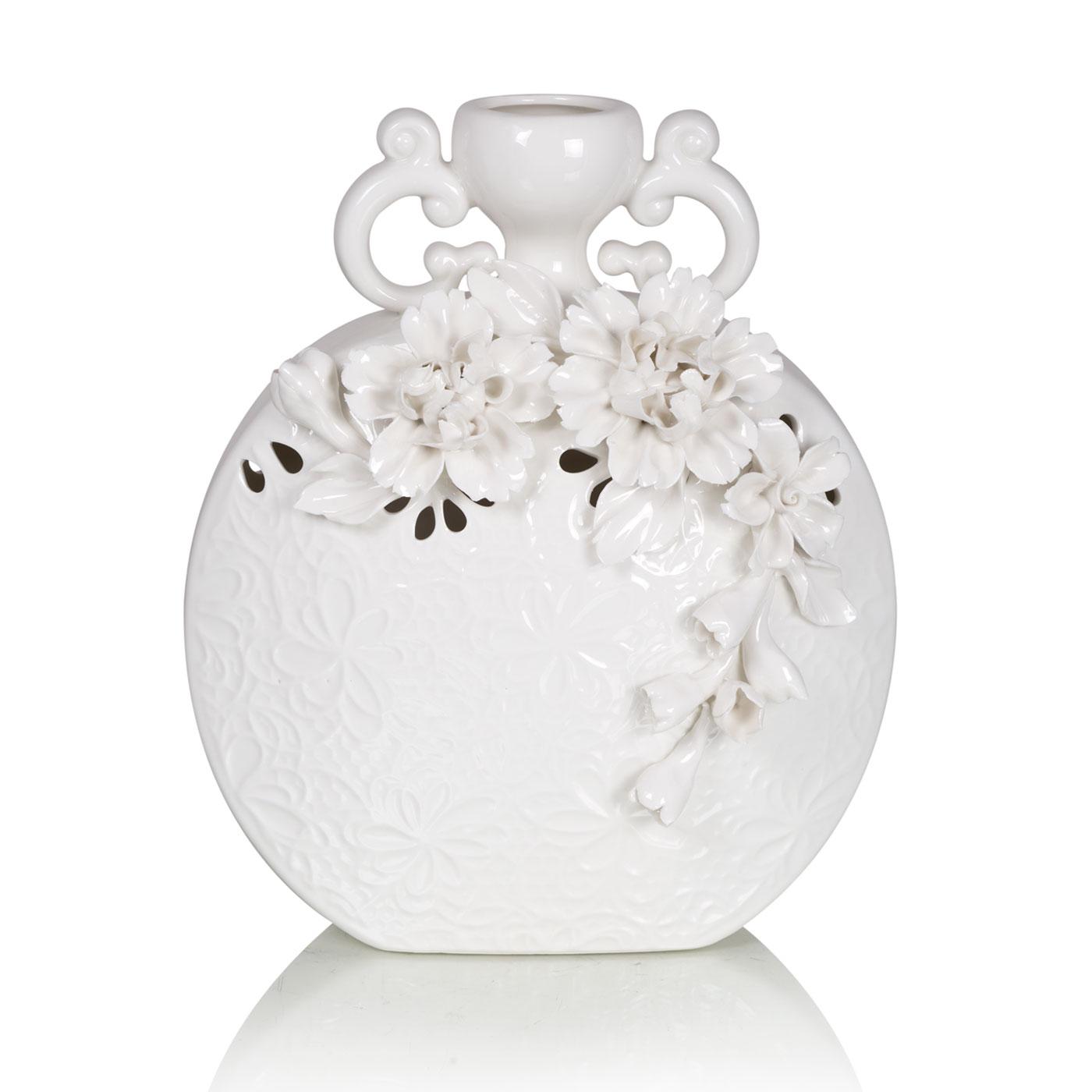 Купить Вазы Home Philosophy, Ваза Camilla Цвет: Белый (21х10х25 см), Китай, Керамика