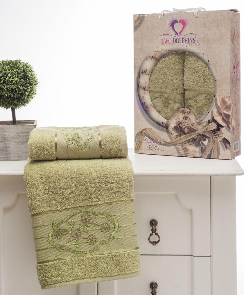 Полотенца Two Dolphins Полотенце Romantic Styles Цвет: Зеленый (50х90 см,70х140 см)