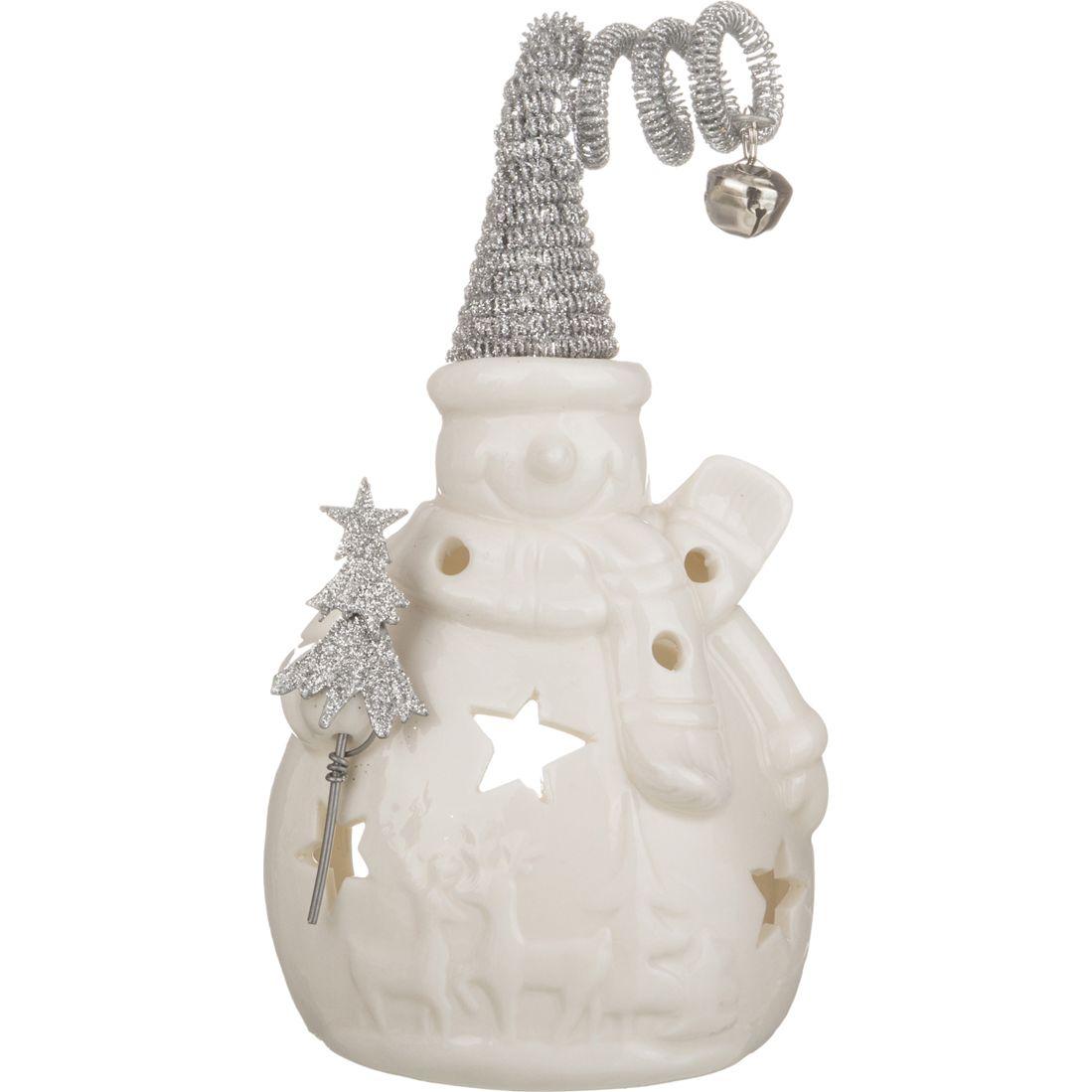 Купить Статуэтки и фигурки Lefard, Фигурка Снеговик (10х7х17 см), Китай, Белый, Серый, Металл, Керамика
