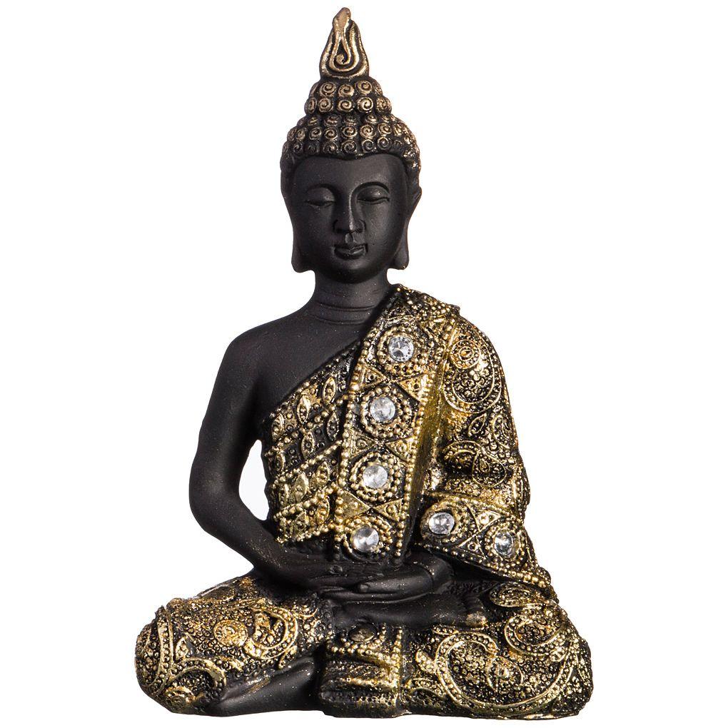 Купить Статуэтки и фигурки Lefard, Фигурка Будда Сосредоточенность (10х6х15 см), Китай, Золотой, Черный, Полистоун
