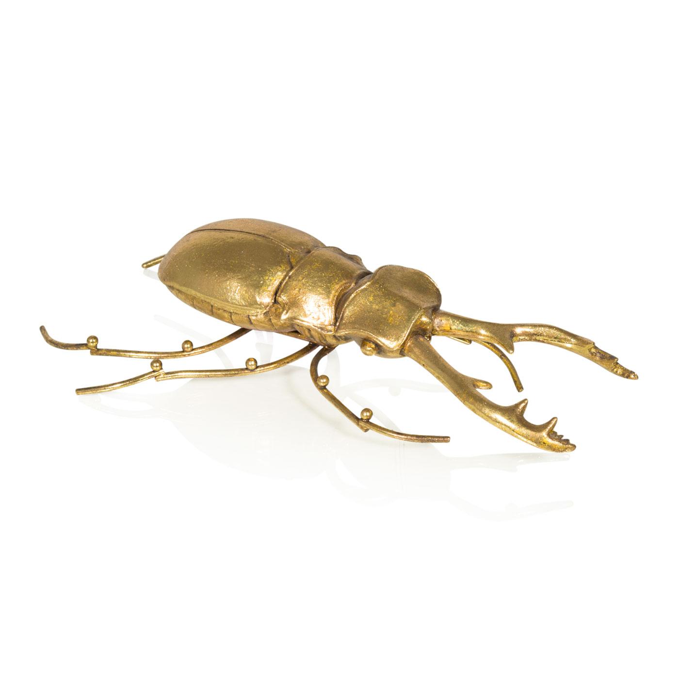 Купить Статуэтки и фигурки Home Philosophy, Фигурка Beetle Цвет: Золотой (11х20х5 см), Китай, Полирезин