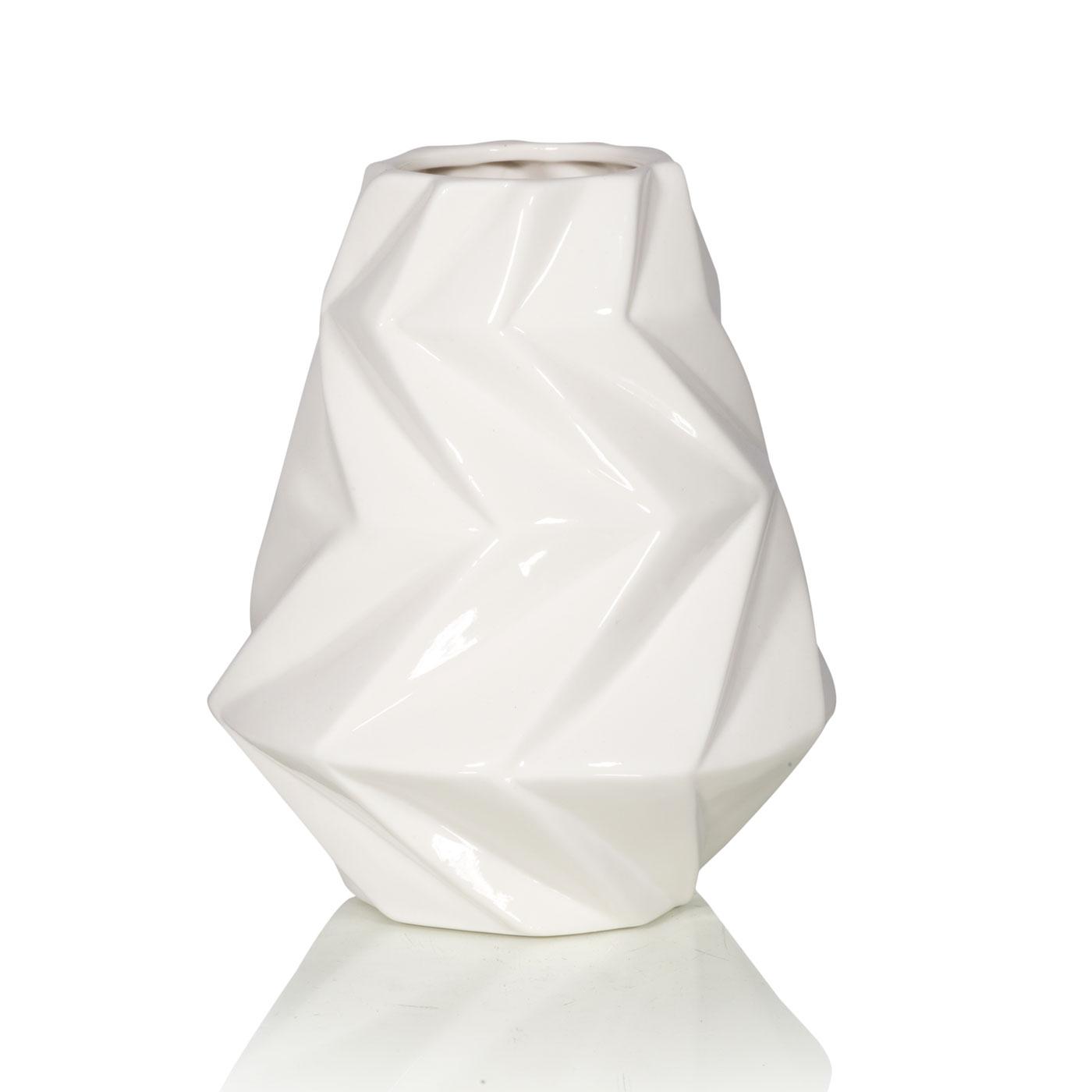 Купить Вазы Home Philosophy, Ваза Randy Цвет: Белый (15х19 см), Китай, Керамика