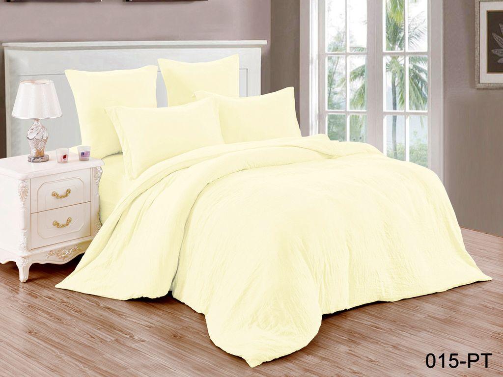Купить Комплекты постельного белья Cleo, Постельное белье Judie (семейное), Китай, Желтый, Синтетический сатин