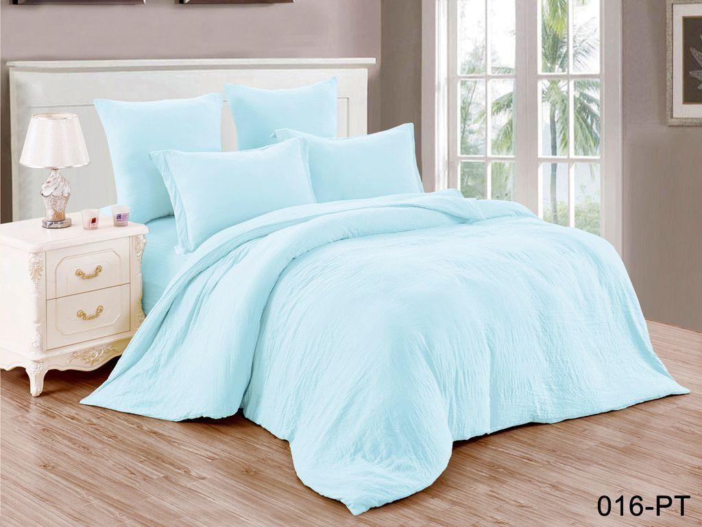 Купить Комплекты постельного белья Cleo, Постельное белье Clark (1, 5 спал.), Китай, Голубой, Синтетический сатин