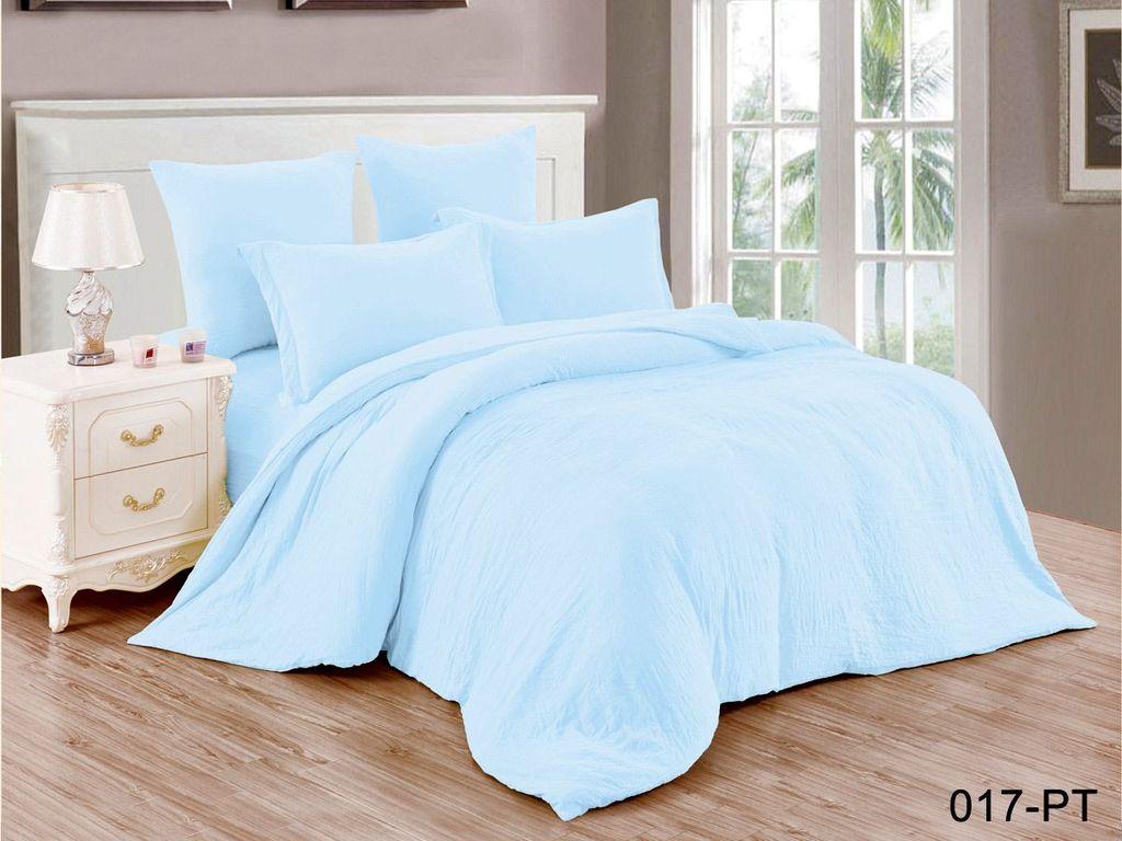 Купить Комплекты постельного белья Cleo, Постельное белье Vanessa (2 спал.), Китай, Голубой, Синтетический сатин