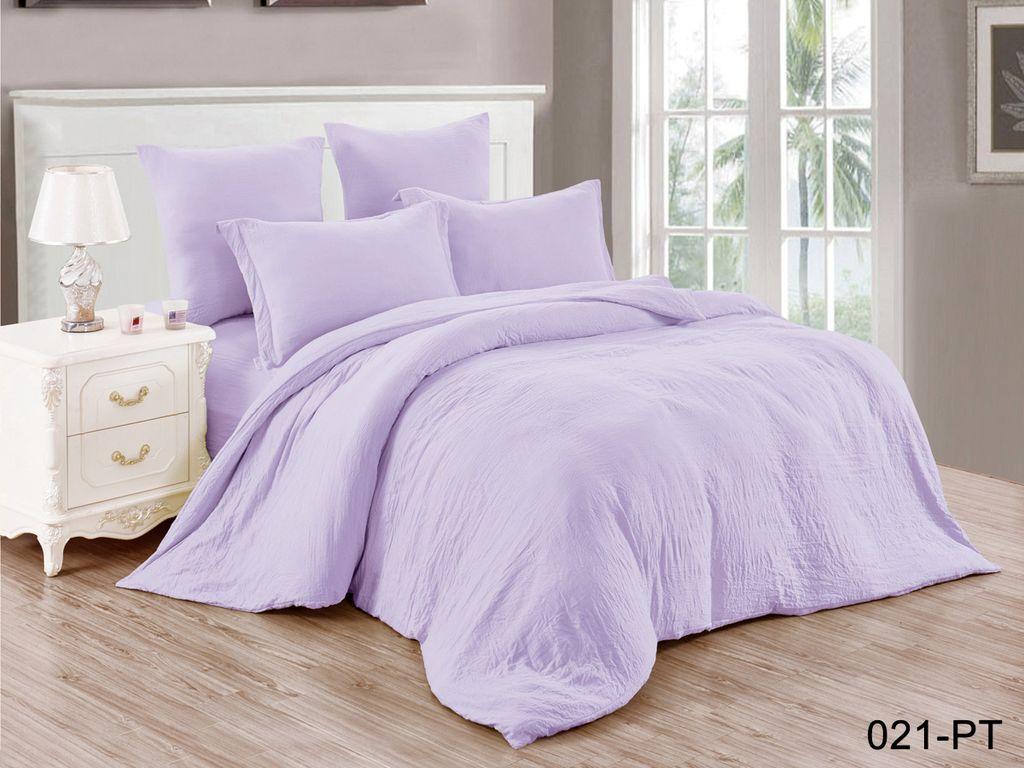 Комплекты постельного белья Cleo, Постельное белье Darell (1, 5 спал.), Китай, Сиреневый, Синтетический сатин  - Купить