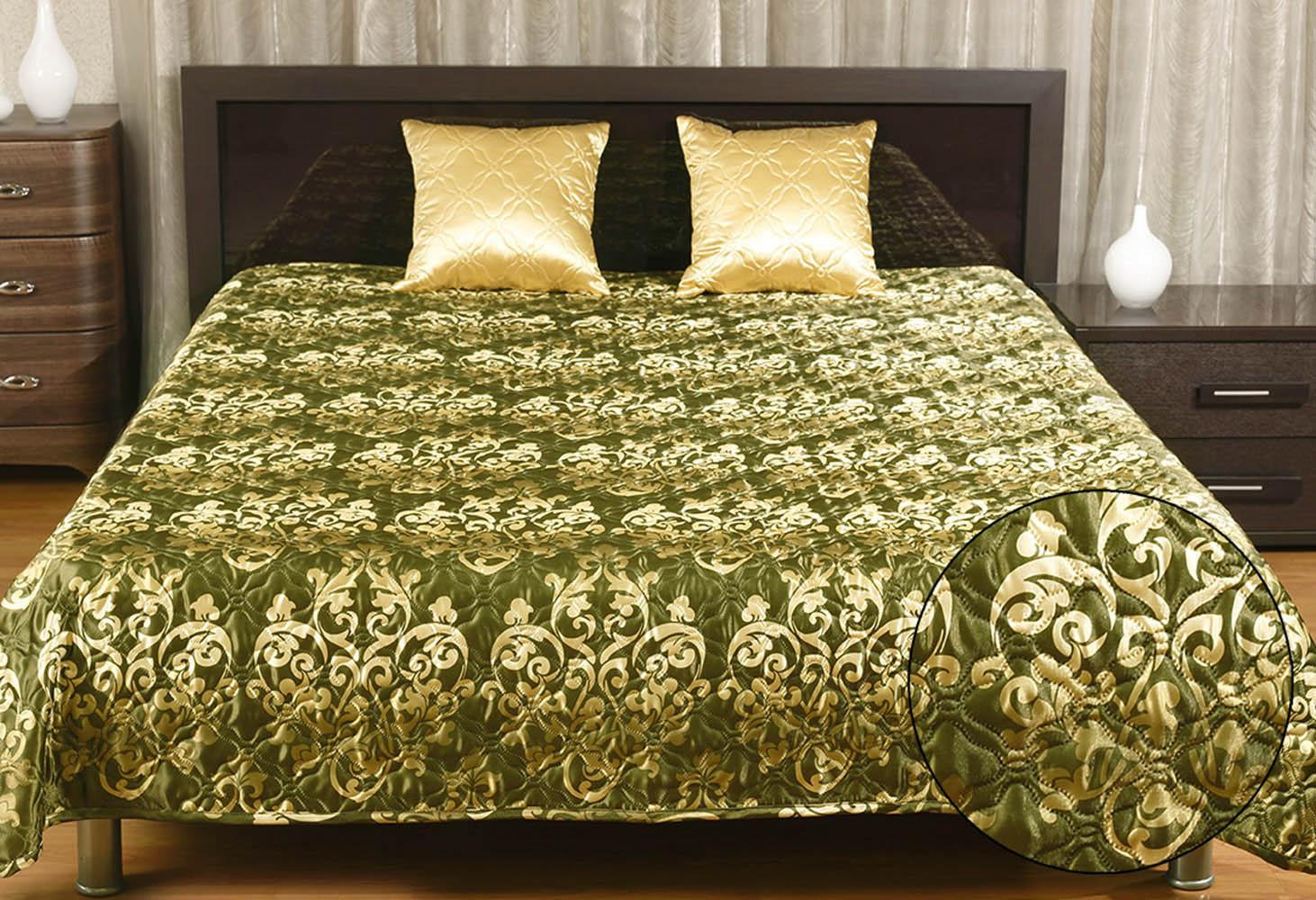 Пледы и покрывала Primavelle Покрывало Элегия Рокко Цвет: Оливковый (200х220 см)