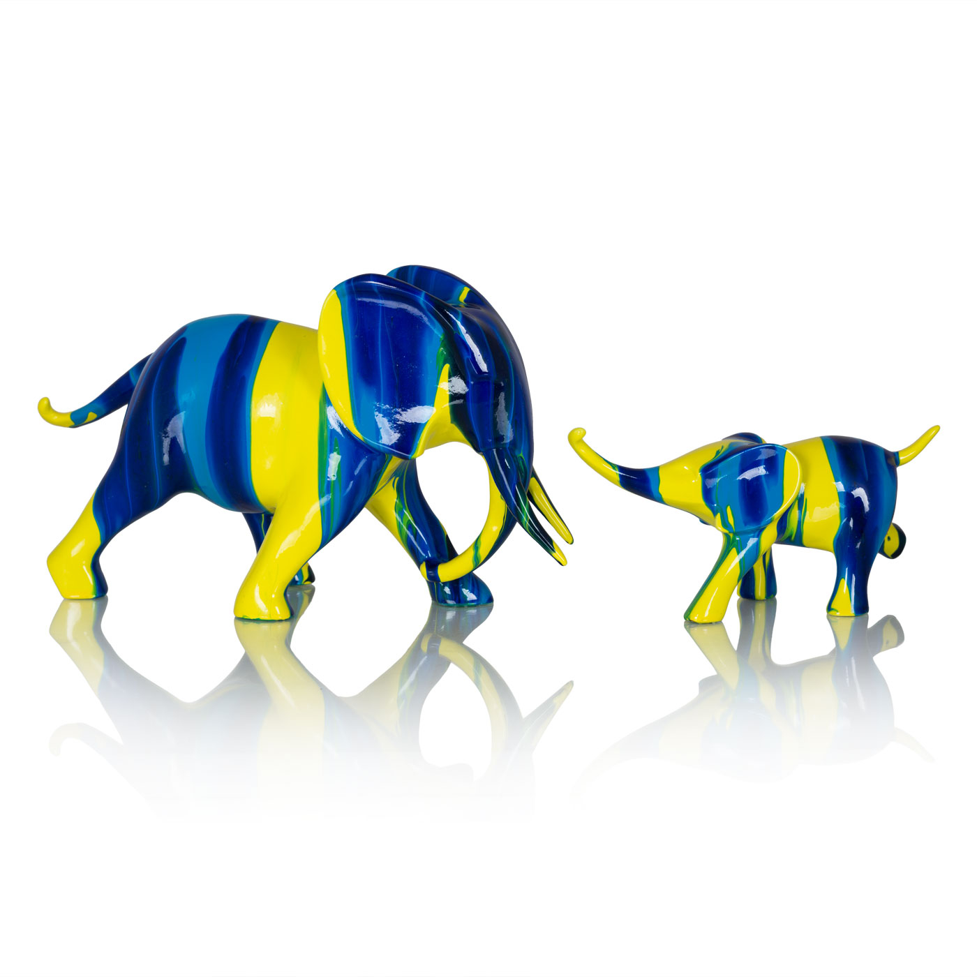 Купить Статуэтки и фигурки Home Philosophy, Набор фигурок Morrison Цвет: Сине-Желтый (2 шт), Китай, Полирезин