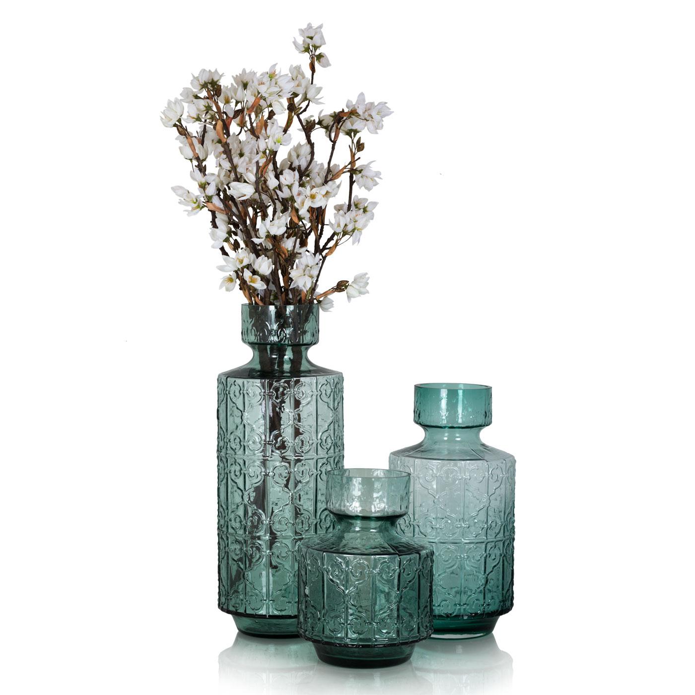 Купить Вазы Home Philosophy, Ваза Granada Цвет: Зеленый (14х31 см), Китай, Стекло