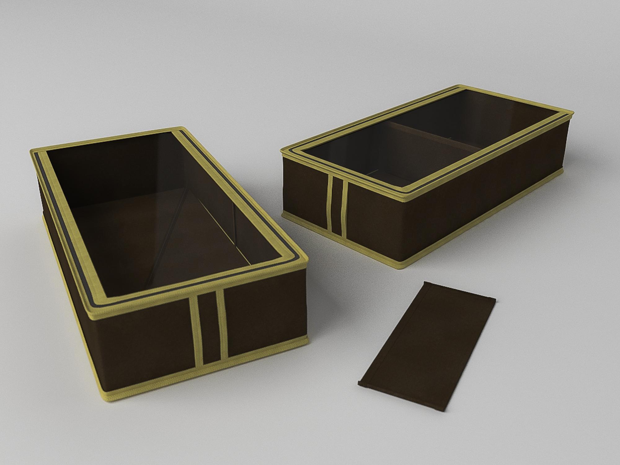 Кофр для обуви Классик Цвет: Коричневый (12х26х52 см) CoFreT cfr288608