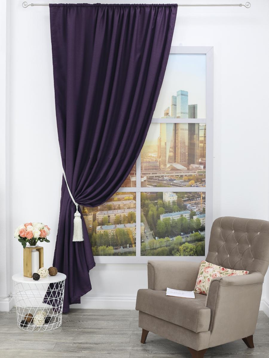 Классические шторы Laurence Цвет: Фиолетовый