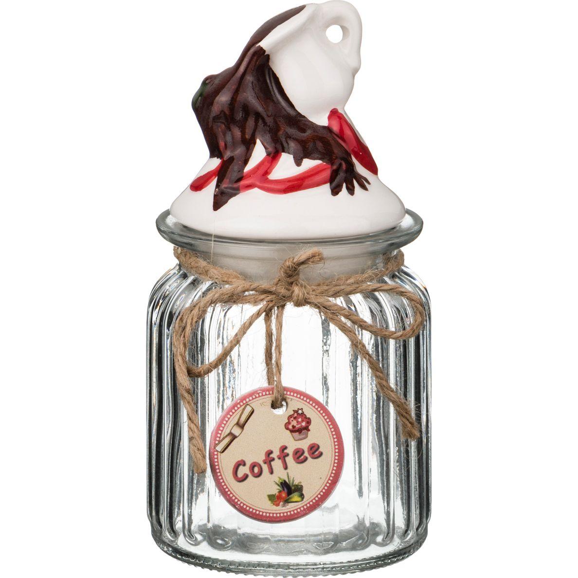 Купить Хранение продуктов Lefard, Банка Для Сыпучих Продуктов Сладкое Яблочко (8х8х16 см), Китай, Белый, Коричневый, Керамика, Стекло