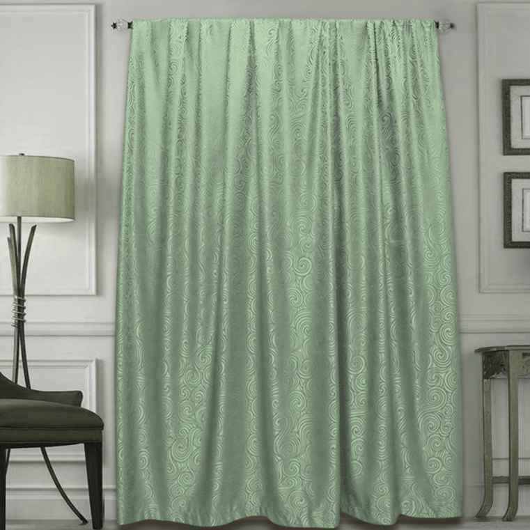 Купить Шторы Amore Mio, Классические шторы Phillis Цвет: Зеленый, Китай, Жаккард