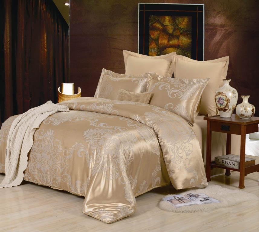 Купить Комплекты постельного белья Valtery, Постельное белье Parker (1, 5 спал.), Китай, Золотой, Хлопковый сатин