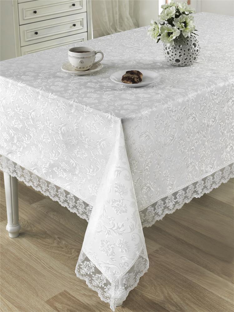 Скатерти и салфетки Karna Скатерть Leda Цвет: Белый (160х300 см)