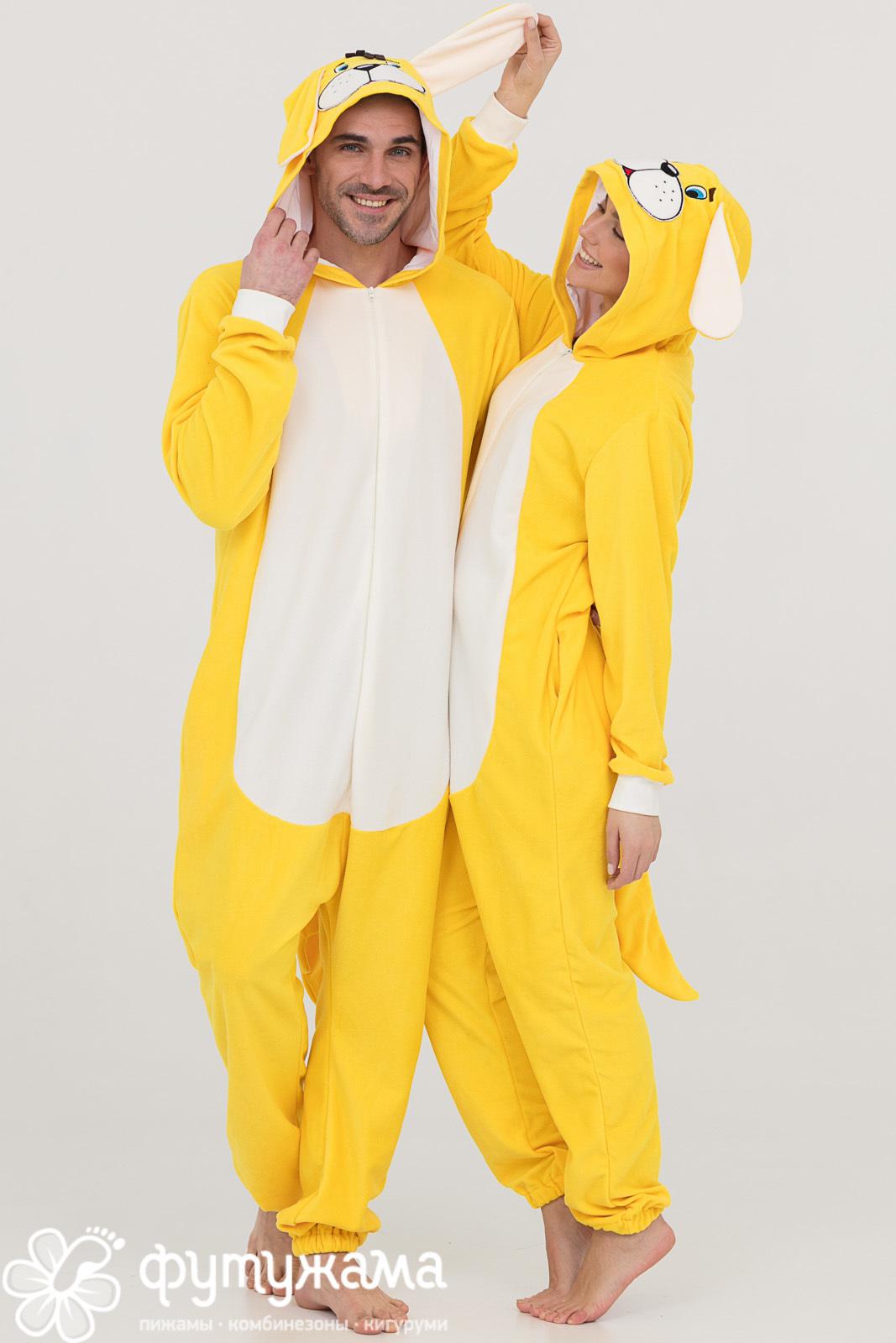 Пижама-кигуруми Собачка Цвет: Желтый (50-52) фото