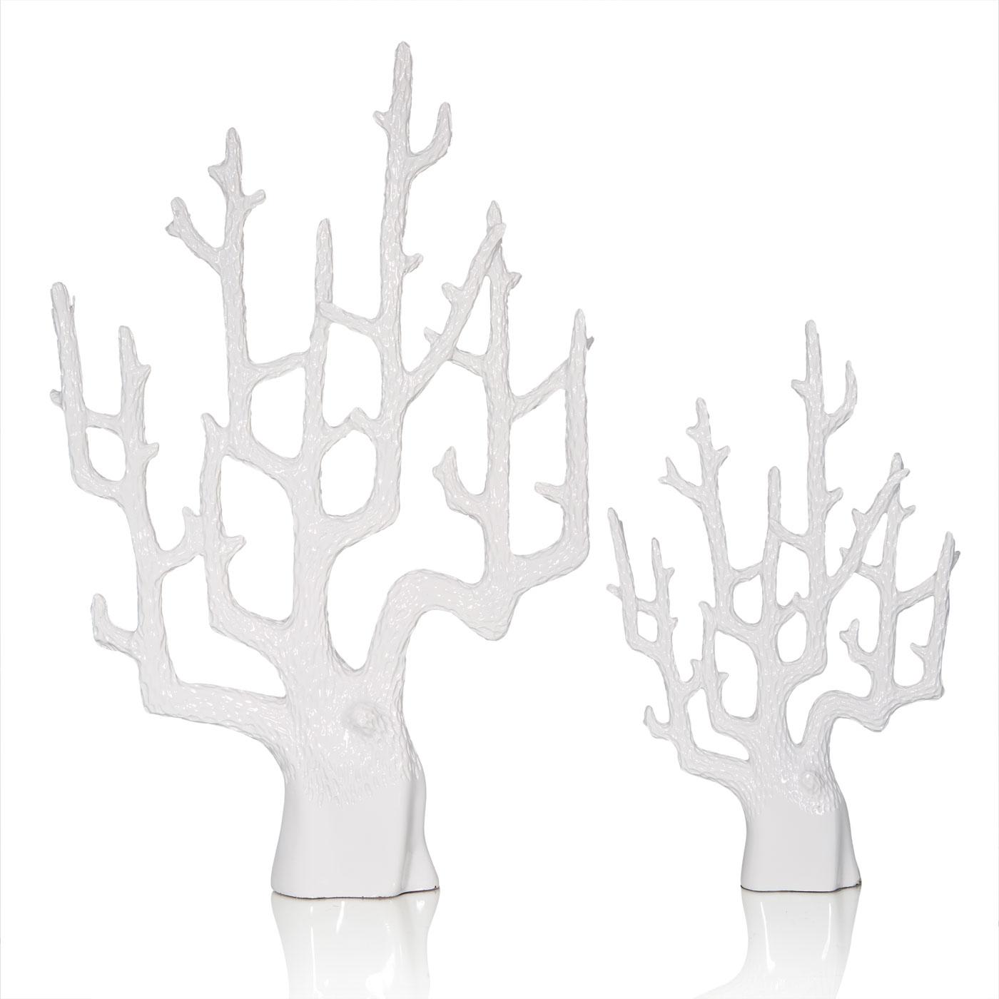 Купить Статуэтки и фигурки Home Philosophy, Фигурка Coral Цвет: Белый (31х7х48 см, большой), Китай, Полирезин