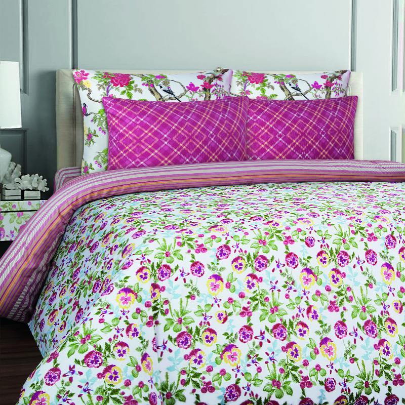 Купить Комплекты постельного белья Mona Liza, Постельное белье Anna (семейное), Россия, Сиреневый, Фиолетовый, Бязь