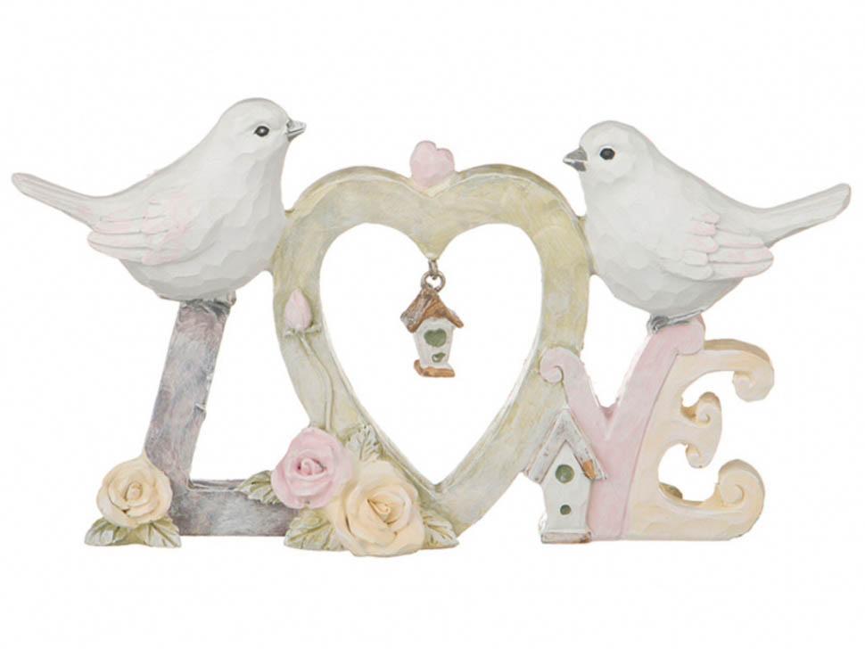 Купить Статуэтки и фигурки Lefard, Фигурка Love (2х10х19 см), Китай, Бежевый, Белый, Полистоун
