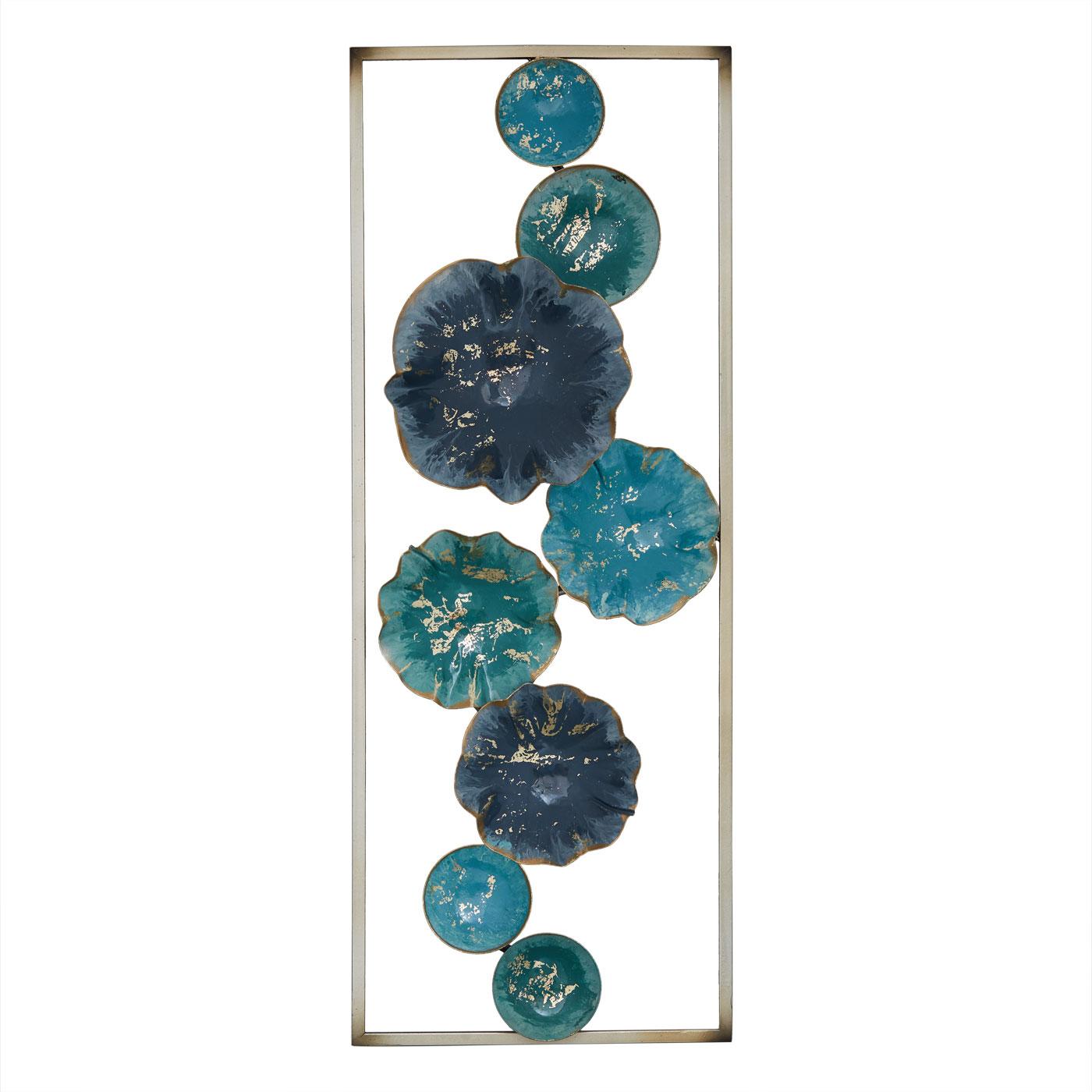 Купить Картины, постеры, гобелены, панно Home Philosophy, Настенный декор Spana Цвет: Сине-Голубой (29х75 см), Китай, Металл