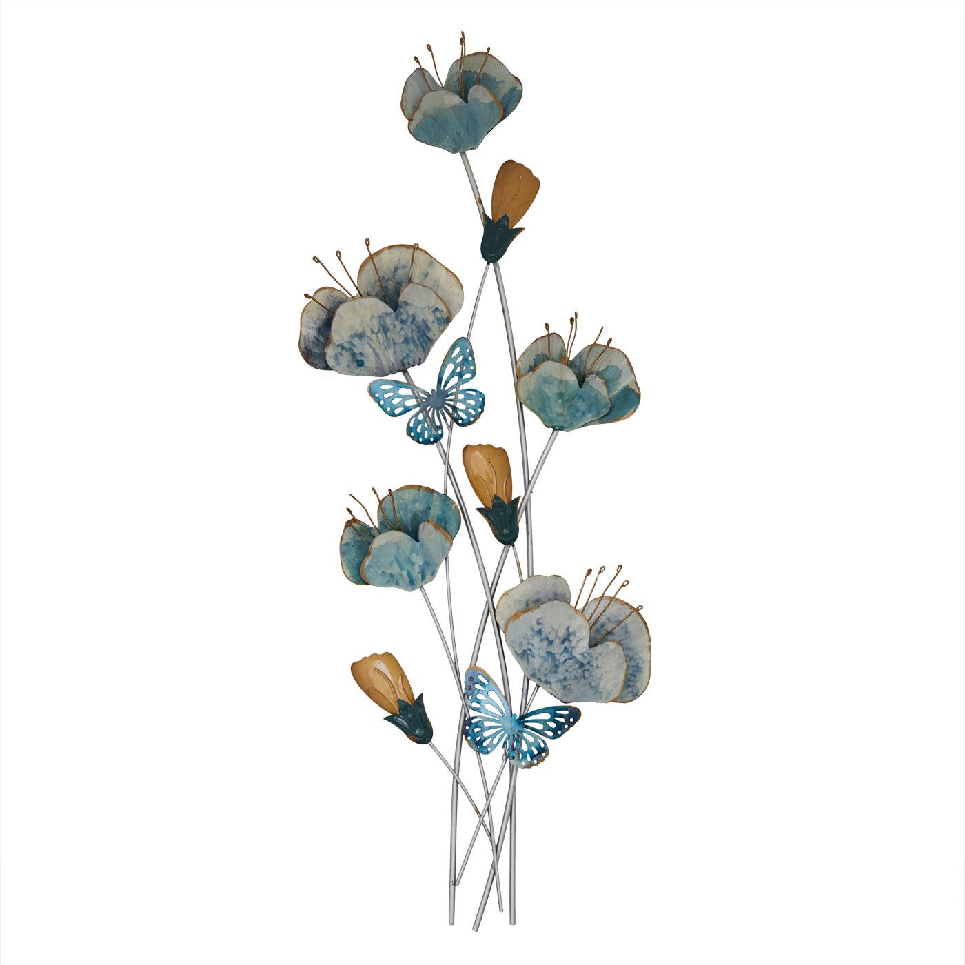 Купить Картины, постеры, гобелены, панно Home Philosophy, Настенный декор Dorrys Цвет: Голубой (32х90 см), Китай, Металл