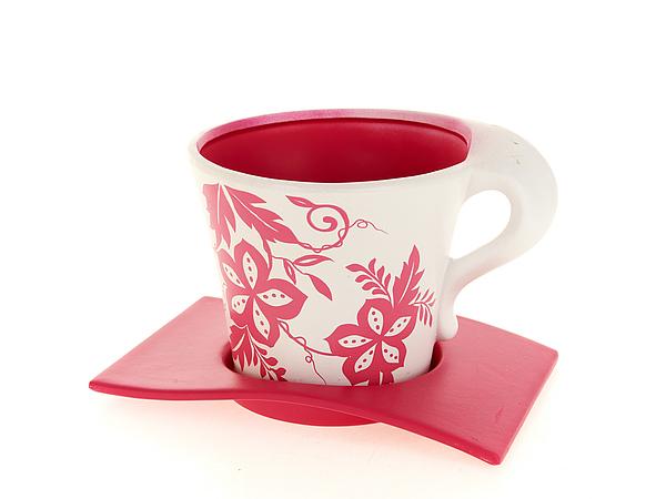 Горшки, подставки для цветов ENS GROUP Горшок  поддоном Розовый Узор (14х15 см)