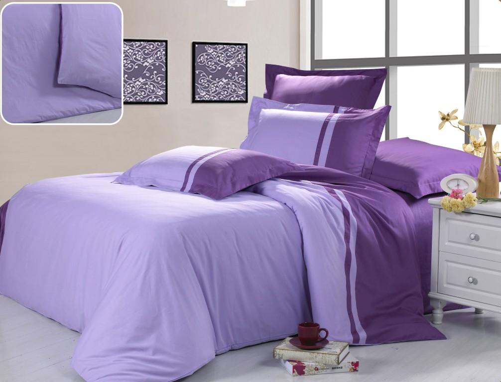 Купить Комплекты постельного белья Valtery, Постельное белье Astor (2 спал.), Китай, Сиреневый, Фиолетовый, Хлопковый сатин