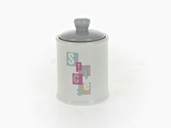 Купить Хранение продуктов ENS GROUP, Банка для специй Letters (6х10 см), Китай, Серый, Керамика