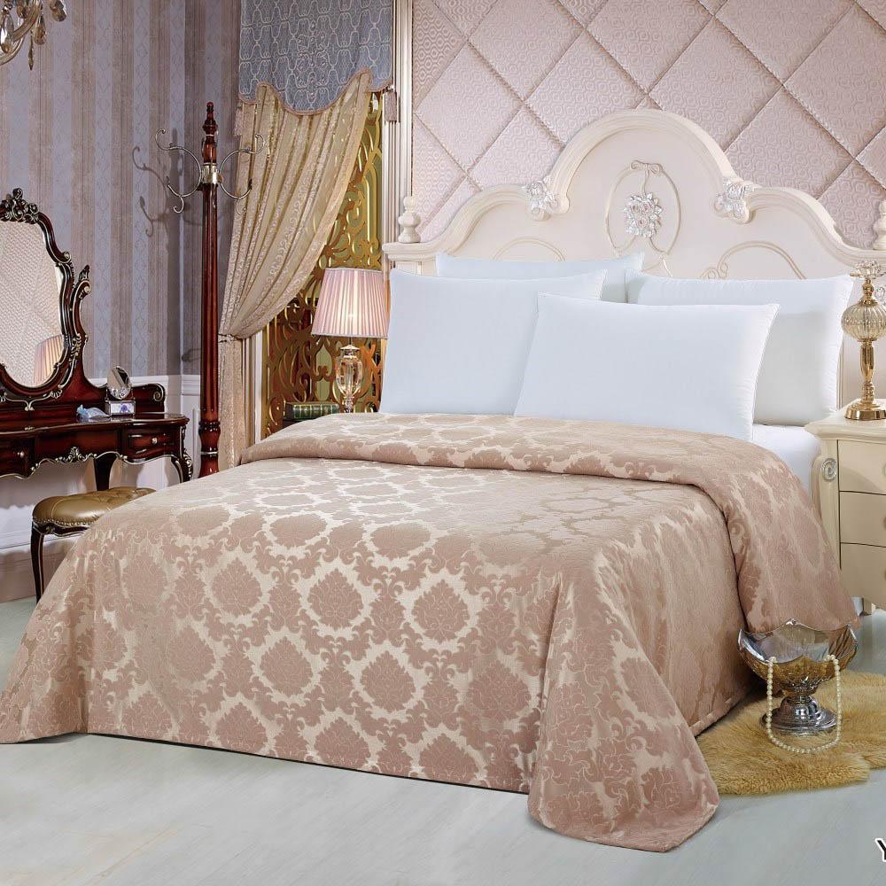 Пледы и покрывала KingSilk Покрывало Jane Цвет: Какао (240х260 см) kingsilk простыня nic цвет розовый 240х260 см
