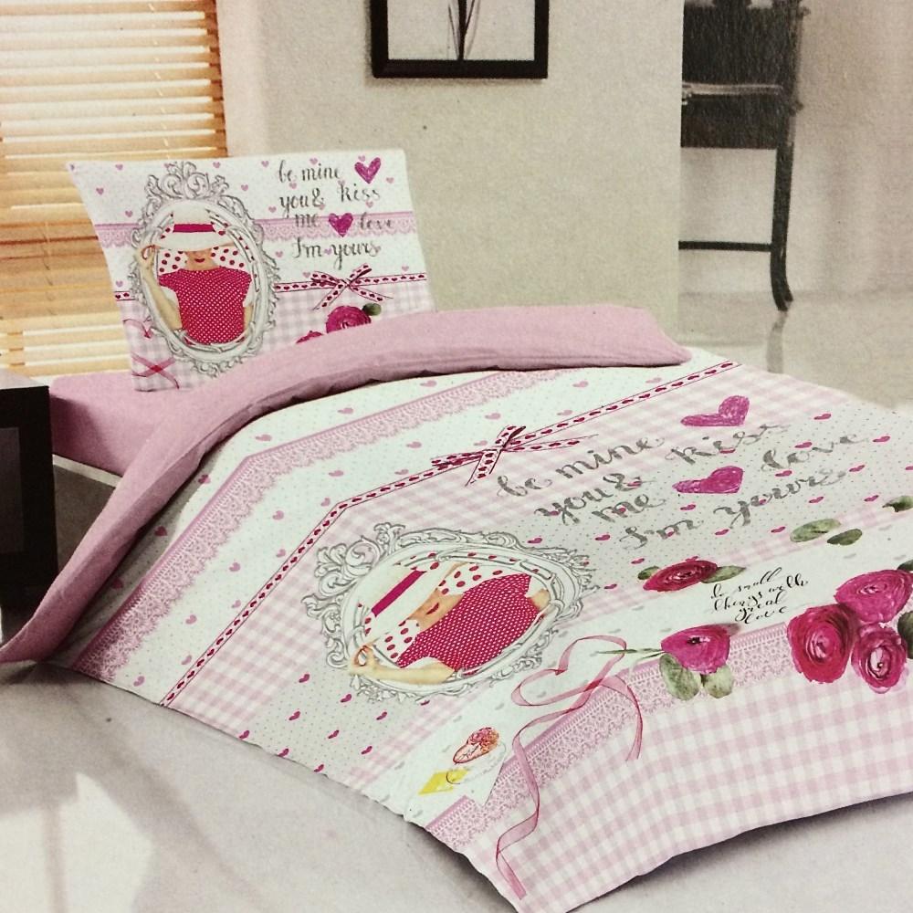 Купить Детское постельное белье Laura Bella, Детское Постельное белье Teen Цвет: Розовый (160х220 см), Турция, Ранфорс