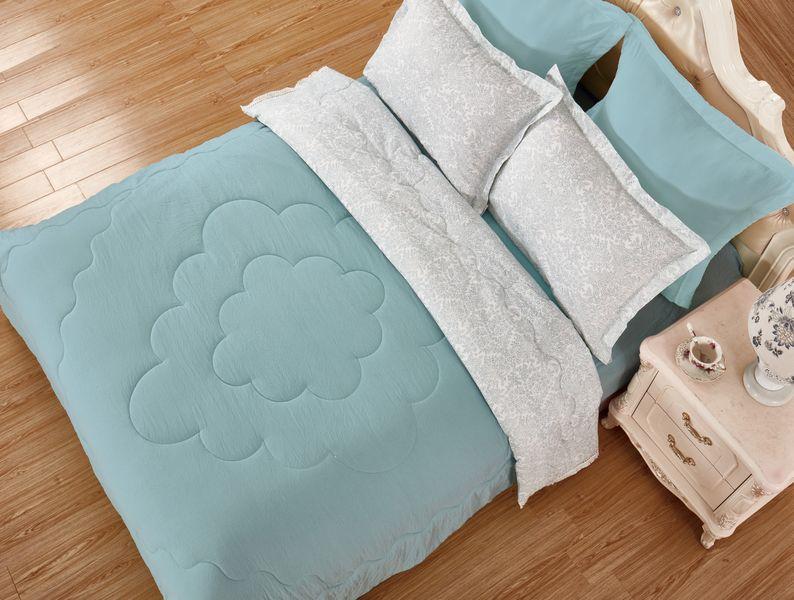 Купить Комплекты постельного белья Veronica Franko, Постельное белье Миджано Цвет: Зеленый (семейное), Китай, Вискозный сатин