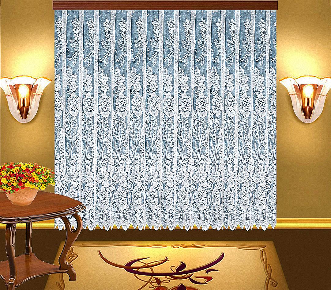 Купить Шторы Elegante, Классические шторы Edina Цвет: Белый, Китай, Тюль