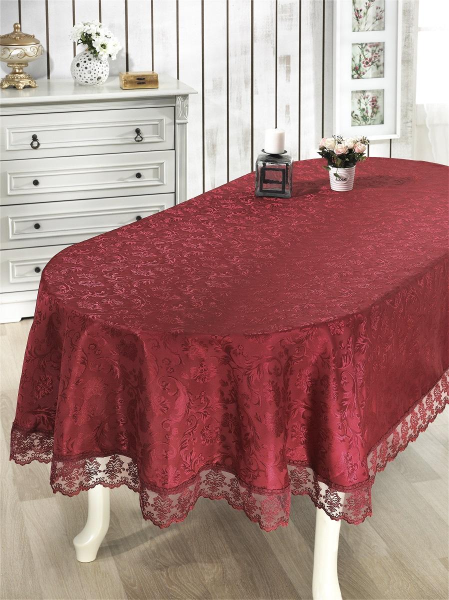 Скатерти и салфетки Karna Скатерть Leda Цвет: Бордовый (160х220 см)