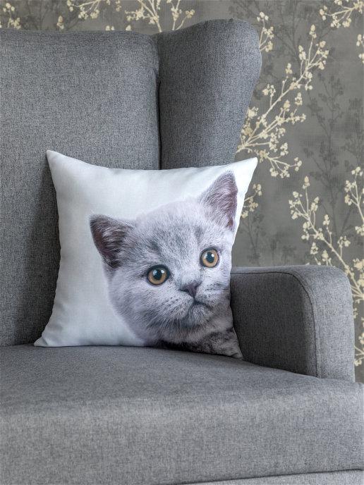Декоративная подушка Кот (40х40)