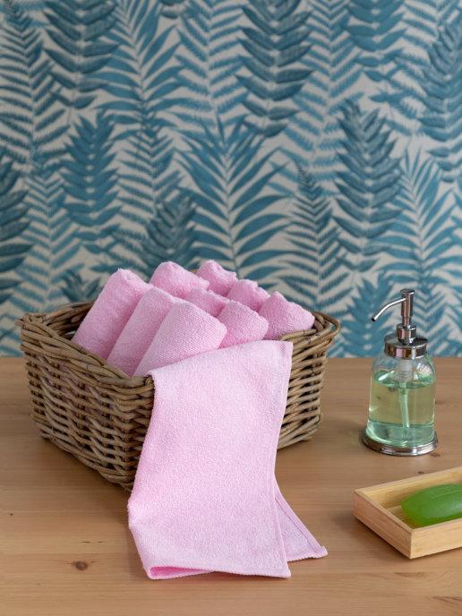 Полотенце Патрисия цвет: розовый (30х30 см)