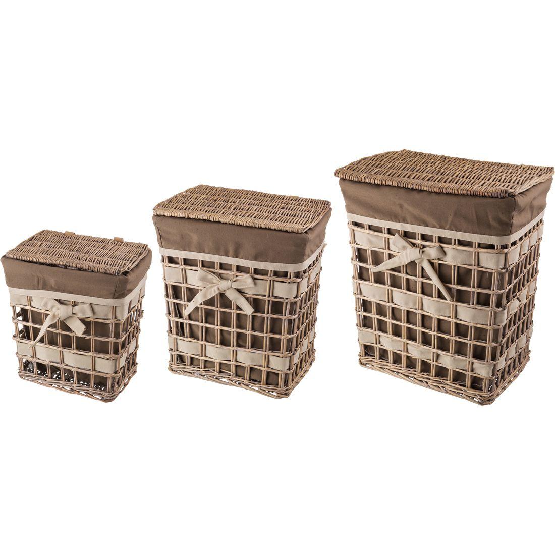 Корзины, коробки  контейнеры Villa Bianca Корзина Carla (Набор)