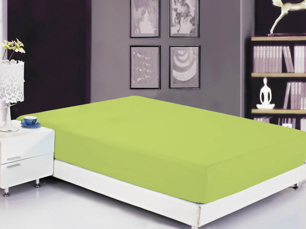 Простыни Valtery Простыня на резинке Roxy Цвет: Свежая Зелень (200х220)